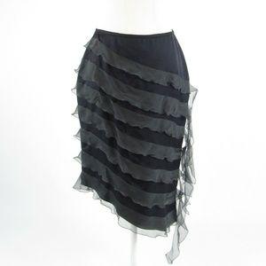Giorgio Armani gray tiered skirt S
